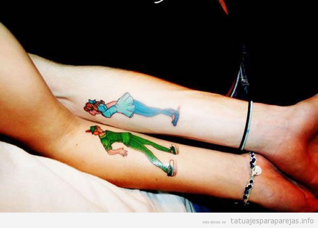 Tatuajes En Pareja De Famosas Parejas De Dibujos Animados De Disney