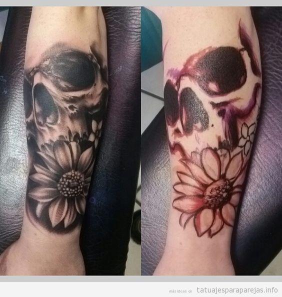 Tatuaje de calaveras en pareja 3
