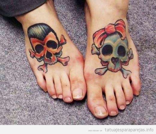 Tatuaje de calaveras en pareja 5