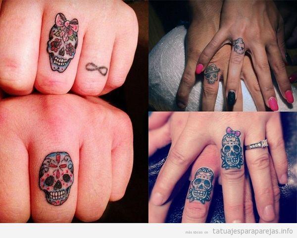 Tatuajes Anillos Pareja Calaveras Tatuajes Para Parejastatuajes