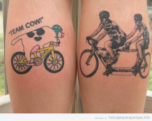 Tatuajes para parejas de dos bicicletas o tándems 6