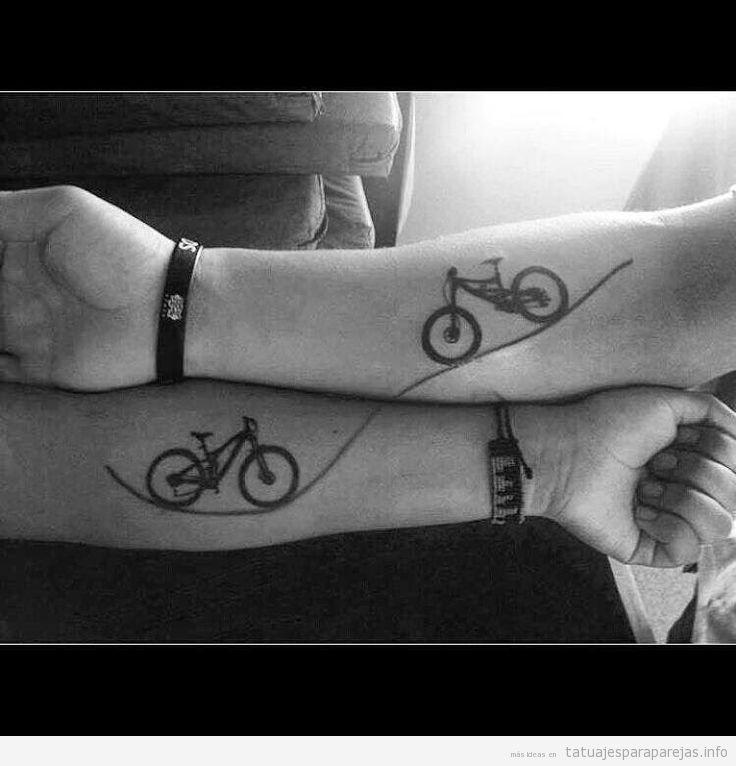 Tatuajes para parejas de dos bicicletas o tándems