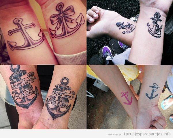 15 Tatuajes Para Parejas De Anclas Que Significan Estos