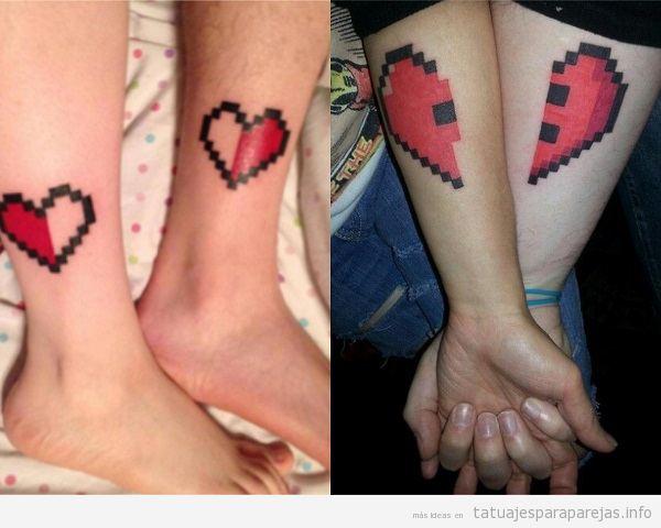 35 Tatuajes Para Parejas Frikis De Videojuegos Zelda Mario Bros