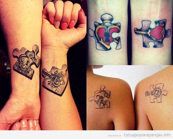 Tatuajes De Puzzle Para Parejas Diseños Que Demuestran Que Encajáis