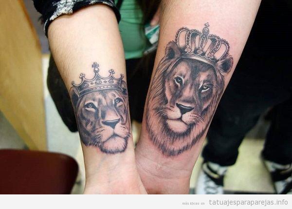 Tatuajes Pareja De Leones 30 Disenos Llenos De Poder Y Amor